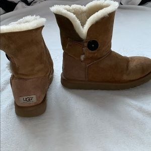 Tan bailey button UGG boots